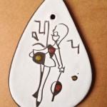 Wandhanger, ongesigneerd, (15 cm)(L)
