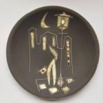 Gesigneerd, Gubbels Tegelen, Dekor Paris DH (Dries Holten) (23 cm)