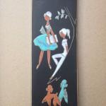 Wandtegel, Ruscha Handarbeit 734/1, 30x11,5 cm