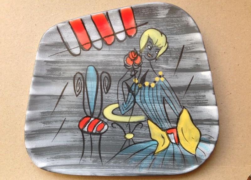 Wandbord, onbekend, 25,5x28,5 cm