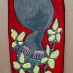 Wandtegel, gesigneerd 'Made in Italy', 27 cm (h)