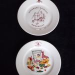 1956 (12) 2 ontbijtbordjes in verschillende varianten, ontwerp: Co Klomp