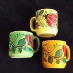 1969 (25) 3 kleurvarianten bekers door keramisch bedrijf 'De Toekomst', Oosterhout'