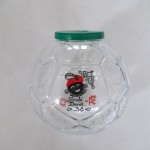 1980 (36) spaarpot voetbal met plastic deksel