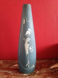 Vaasje, gesigneerd: l'Ancora, Azura, 80 (18 cm)