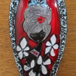 Schaaltje (op 3 pootjes), Ceramica Titano Rep. San Marino Italy, 34 (21 cm)