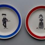 Sneek, 1964 ontbijtbordje 'Family gay' servies, 20,3 cm (ontwerp Nina Matthesson) (Collectie Arnold van Norden)