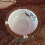Asbak, diameter 13,5 cm, h. 5 cm