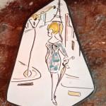 Wandhanger, ongesigneerd (21 cm)