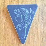 Wandhanger, ongesigneerd (14 cm)