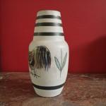 Vaas met zandglazuur, 21 cm