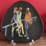 Wandbord, U-Keramik, genummerd 568/22, 24 cm